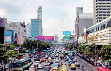 Bangkok during rush hour