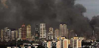 Black smoke over Bangkok