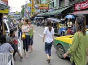 People on Khao San Road
