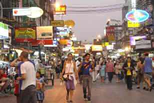 Khao San Road at Twilight