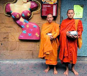 Monks in Patpong