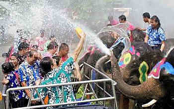 Songkran celebration